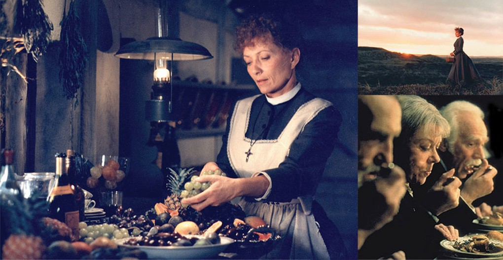 In the film, Babette's Feast (1987), Babette prepares a meal that tranforms the people around the table.