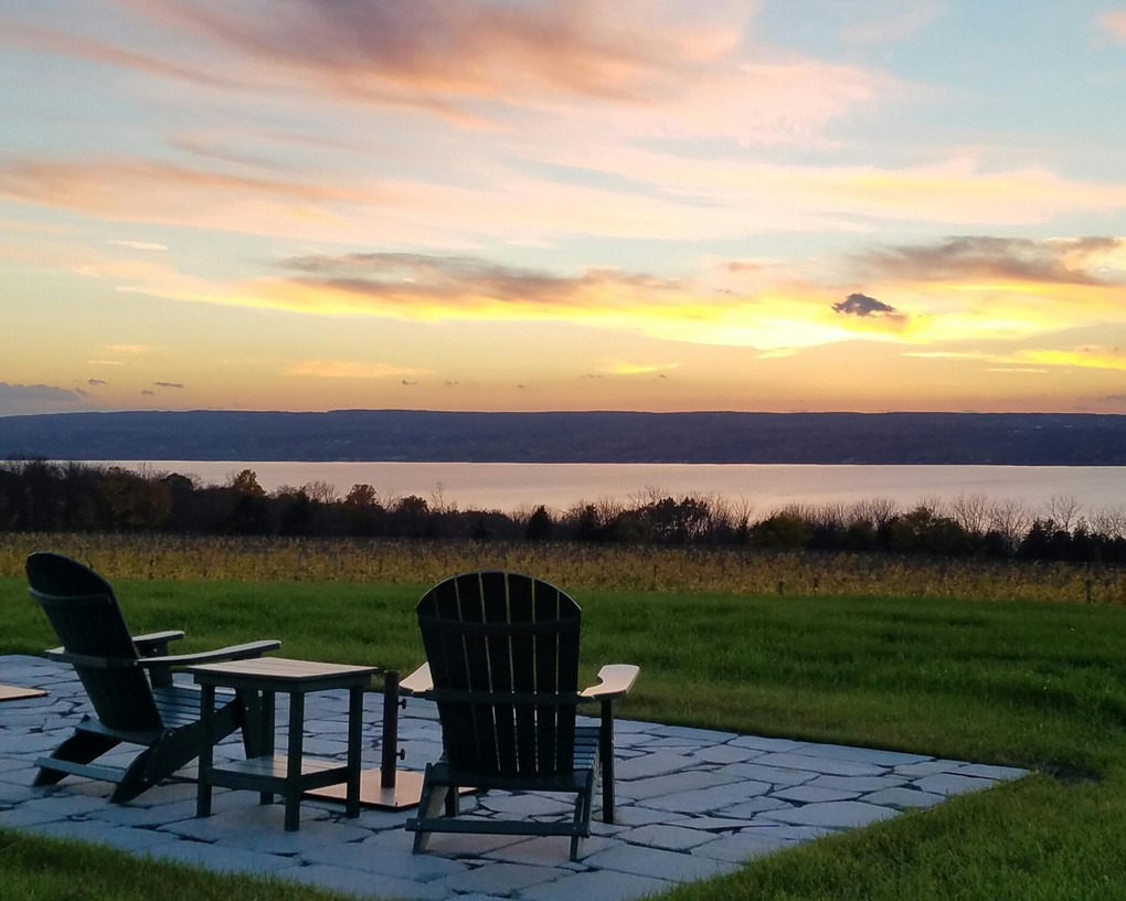 We enjoy sunsets from the east side of Seneca Lake all year long.